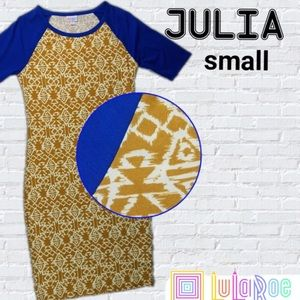 NWT LuLaRoe Blue Sleeve Julia Dress